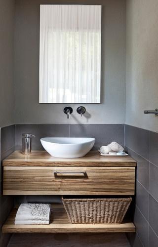 salle de bain teck - Salle De Bain Gris Bois