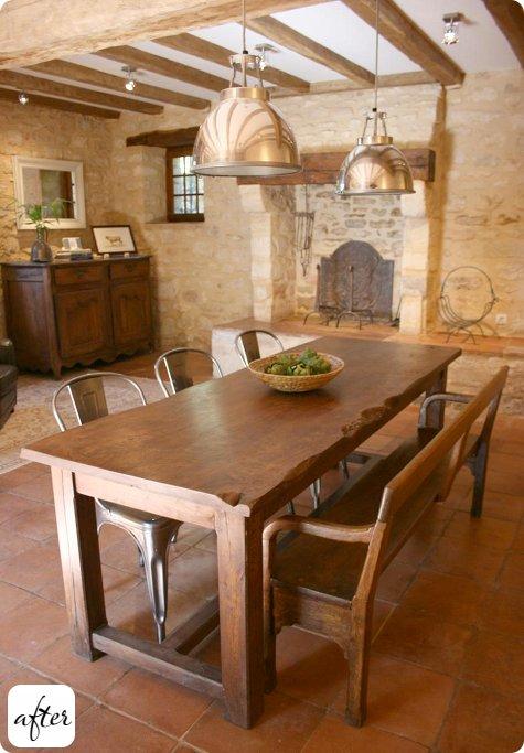 Allier vieux meubles et d co plus moderne - Vieille table en bois ...