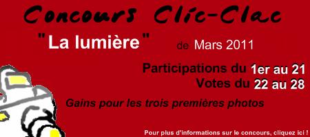 Concours Clic-Clac de Mars 2011, La lumière