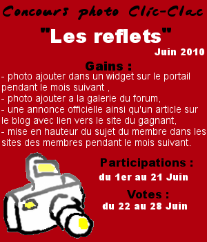Concours Clic-Clac de Juin 2010, Les reflets