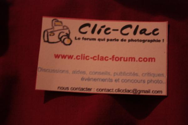 Carte de visite du forum de photographie Clic-Clac au Salon de la Photo 2010