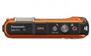 le Panasonic Lumix DMC-FT3 orange de haut