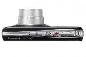 le Panasonic Lumix DMC-FX77 noir de haut