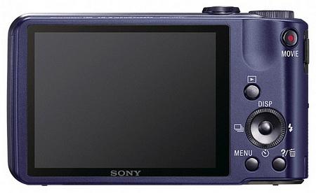 le Sony Cyber-shot DSC-H70 bleu de dos