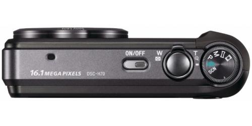 le Sony Cyber-shot DSC-H70 noir de haut