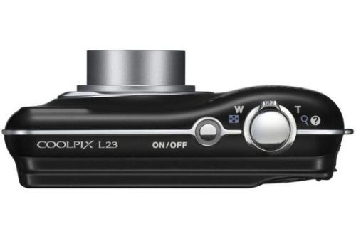 le Nikon Coolpix L23 noir de haut