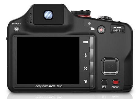 le Kodak EasyShare Max Z990 de dos