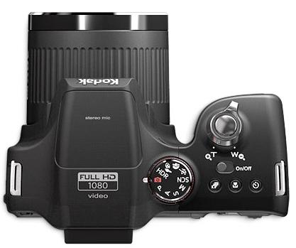 le Kodak EasyShare Max Z990 de haut