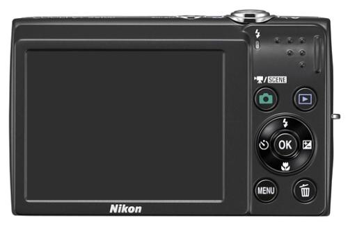 le Nikon Coolpix S2500 noir de dos