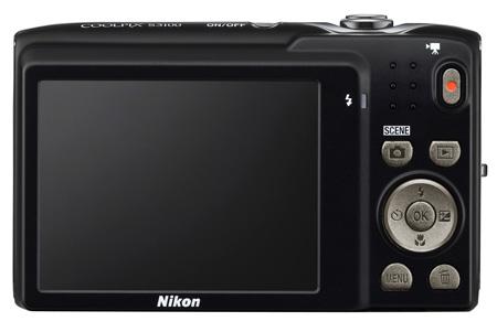 le Nikon Coolpix S3100 noir de dos