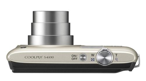 le Nikon Coolpix S4100 argent de haut