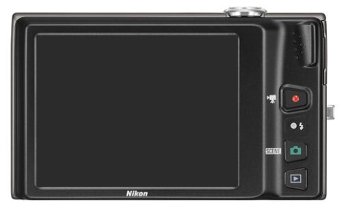 le Nikon Coolpix S6100 noir de dos