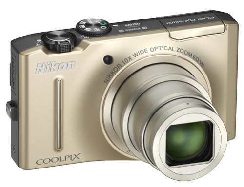 le Nikon Coolpix S8100 or de face