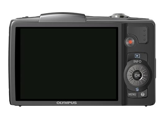 l'Olympus Traveller SZ-20 noir de dos