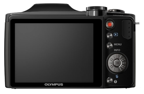l'Olympus Traveller SZ-30MR noir de dos