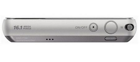 le Sony Cyber-shot DSC-T110 gris de haut