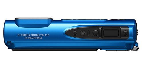 l'Olympus Tough TG-310 bleu de haut