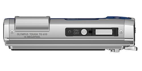 l'Olympus Tough TG-610 argent de haut