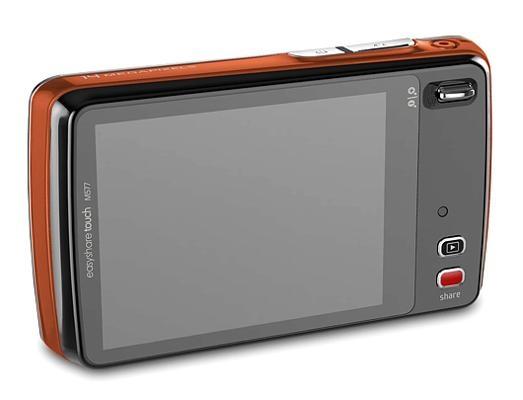 le Kodak EasyShare Touch M577 rouge de dos