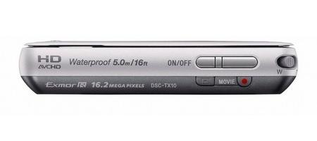le Sony Cyber-shot DSC-TX10 gris de haut