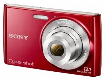 le Sony Cyber-shot DSC-W510 rouge de face