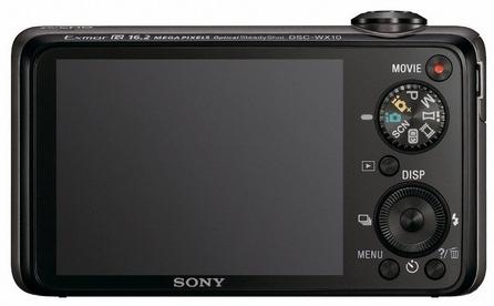 le Sony Cyber-shot DSC-WX10 noir de dos