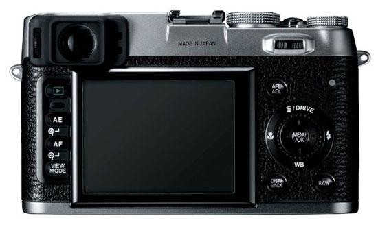 le Fujifilm FinePix X100 de dos
