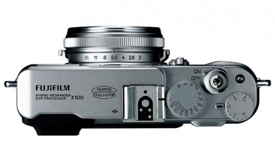 le Fujifilm FinePix X100 de haut