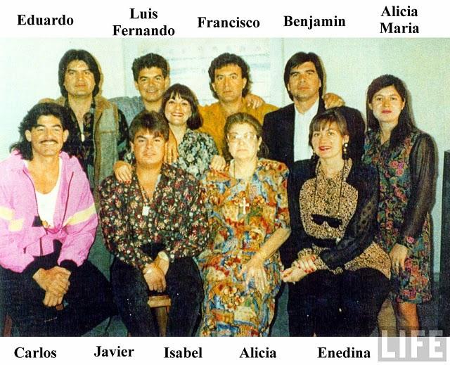 La familia Arellano Félix, tiene siete hermanos: