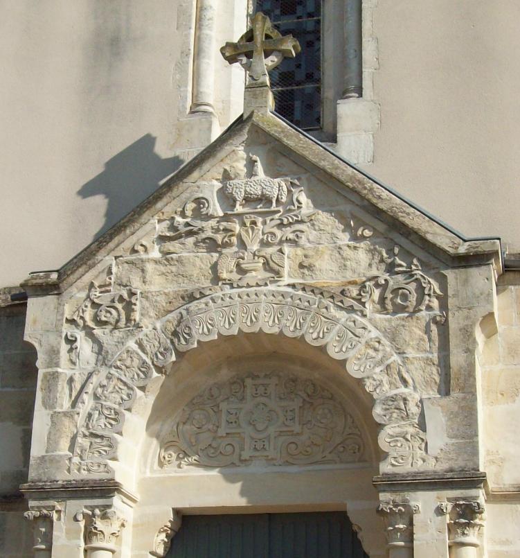 Portail de l'église de Berru-Bouy- Cher - Art'n Wood: créatrice de bijoux et sculptures en matières naturelles