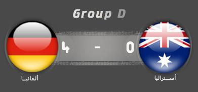 اهداف مباراة ألمانيا استراليا العالم 2010