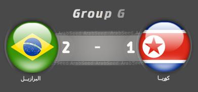 اهداف مباراة البرازيل كوريا