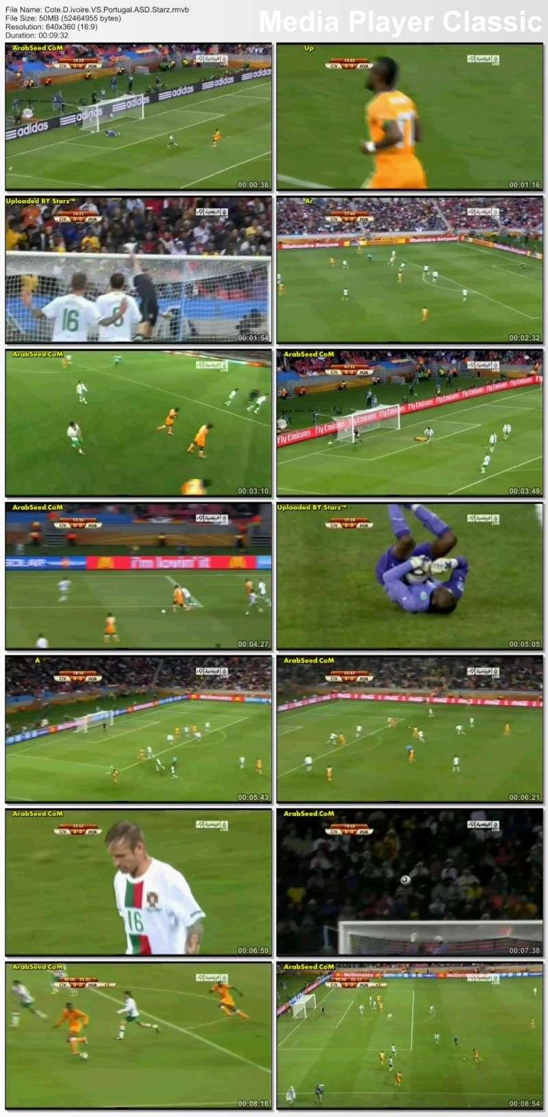 مباراة البرتغال الكوتديفوار العالم 2010