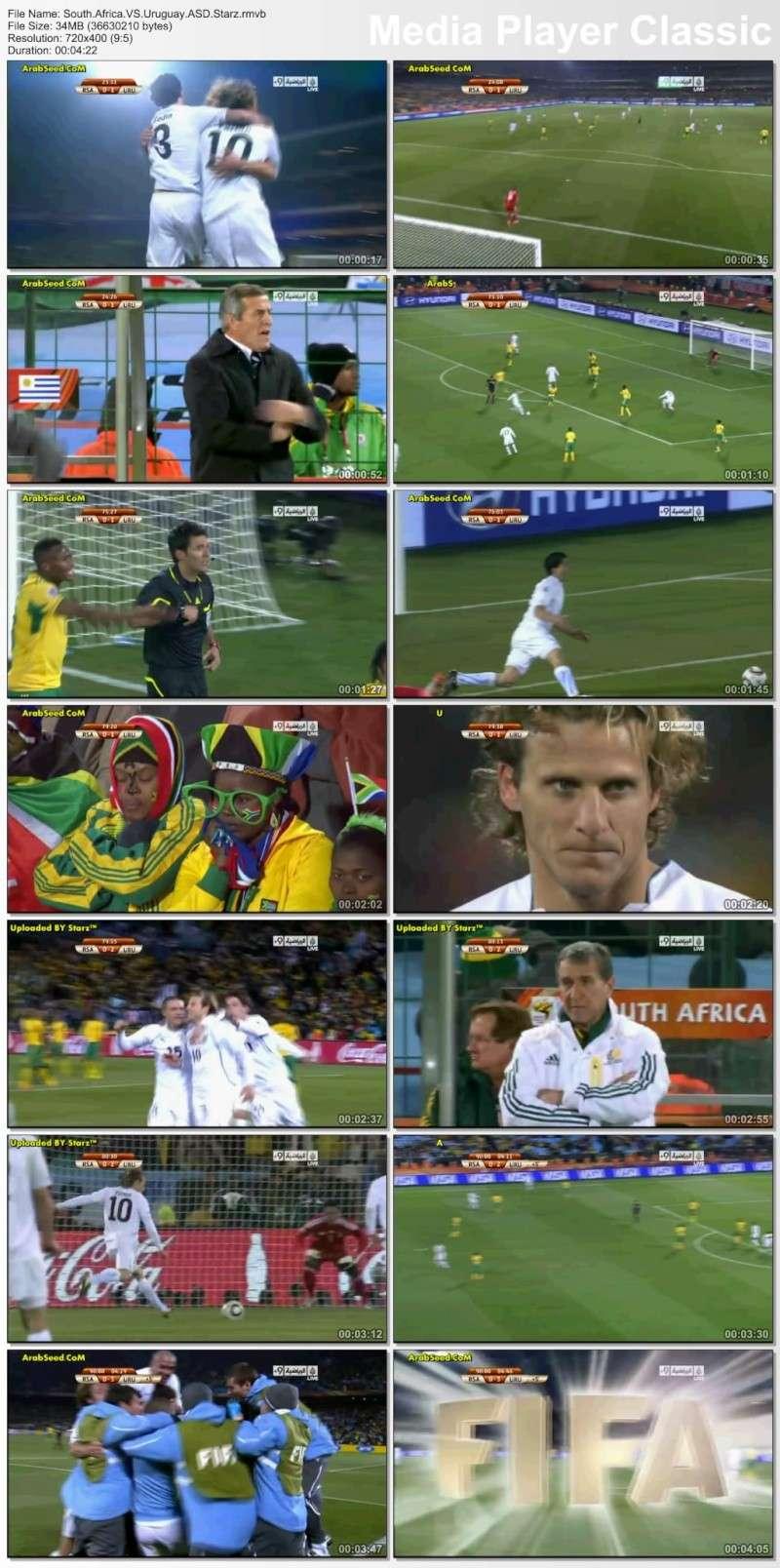 اهداف مباراة افريقيا اوروجواي العالم 2010