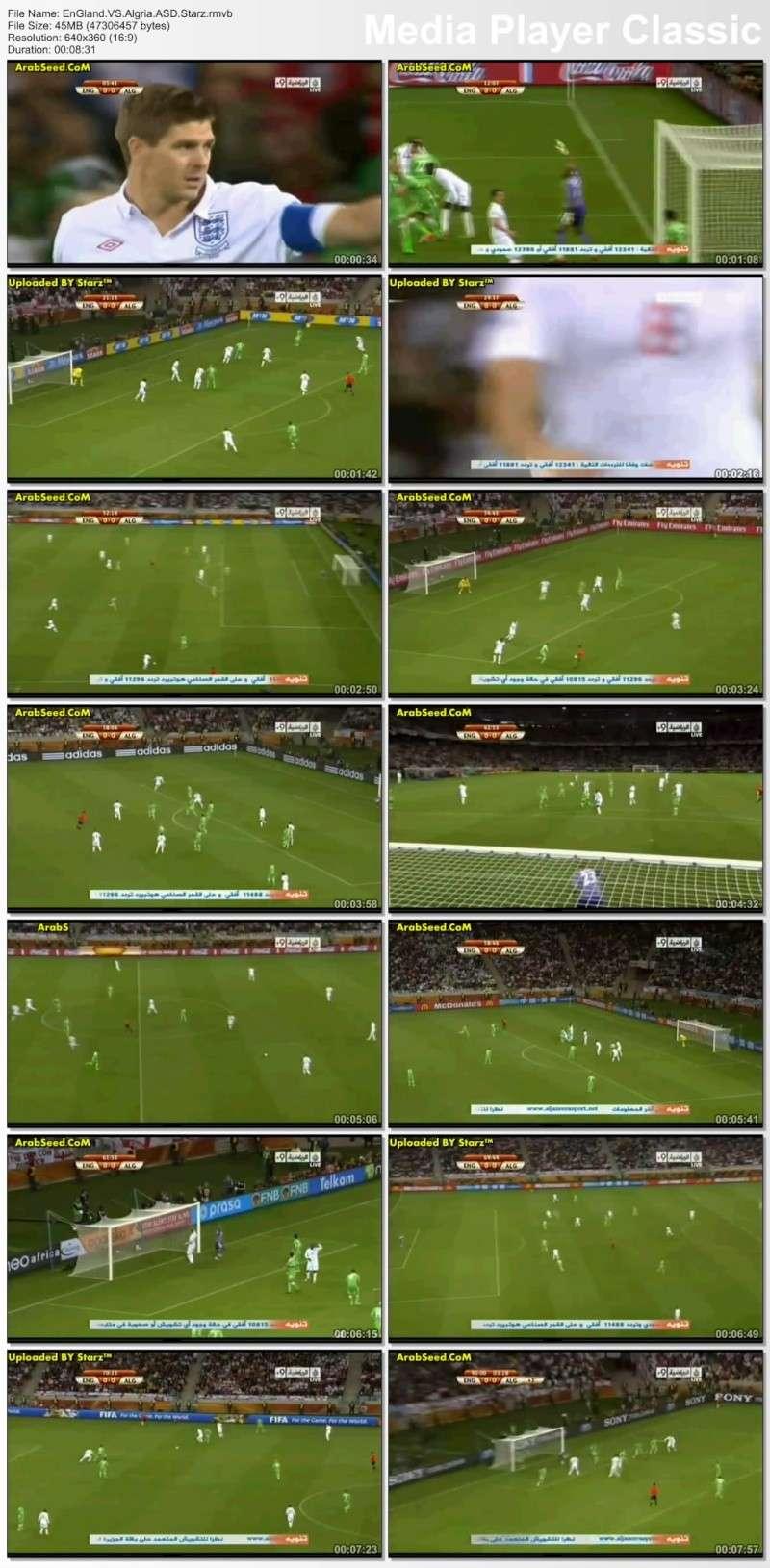 حصريا مياراة انجلترا والجزائر العالم 2010