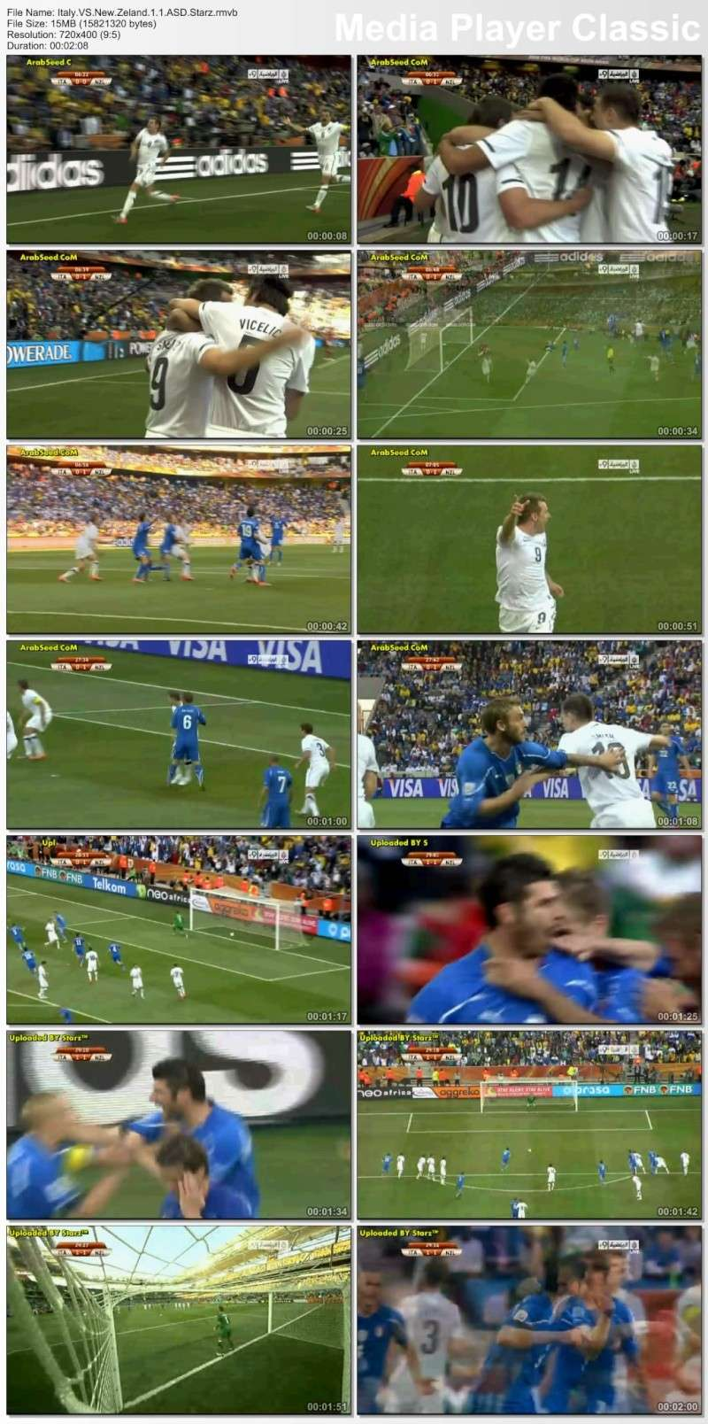 اهداف مباراة ايطاليا نيوزيلاندا