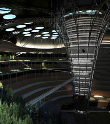 Above below un concept de gratte ciel souterrain for Projet architectural definition