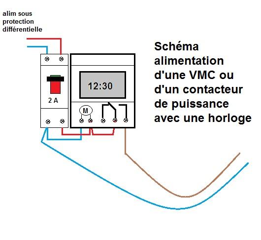 cabler un interrupteur horaire sur une vmc simple flux. Black Bedroom Furniture Sets. Home Design Ideas