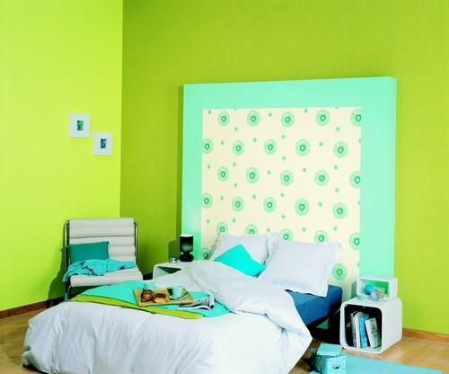 chambre enfant anis et turquoise. Black Bedroom Furniture Sets. Home Design Ideas