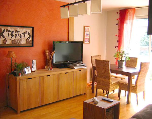 decoration mur saumon. Black Bedroom Furniture Sets. Home Design Ideas