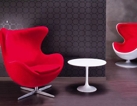 Fauteuil DESIGN ROUGE Chez Le Pelicanfr - Fauteuil rouge design