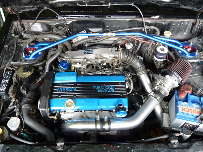 b12  swapping a ca18det into a nissan sunny b12 coup u00e8  u0026 39 89