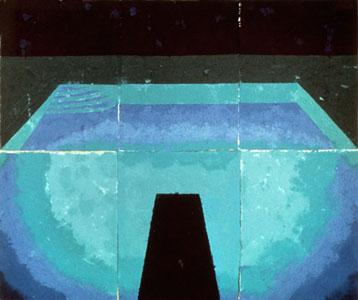 Schwimmbad Mitternacht de David Hockney (1978)