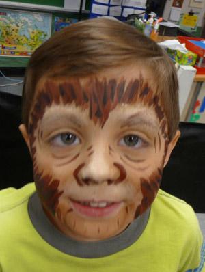 Monkey face makeup - photo#9