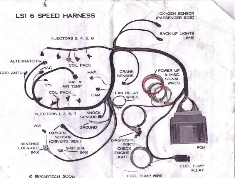 engien10 wiring harness for s10 ls engine swap wiring diagrams instructions