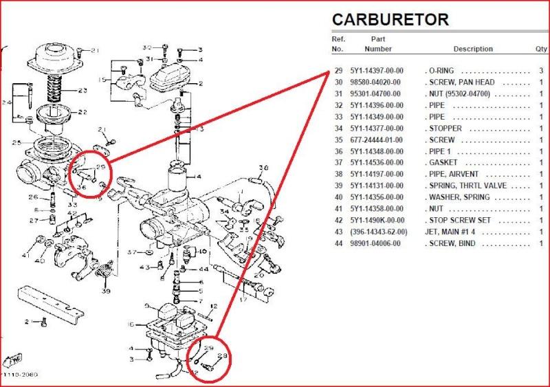 carbu modifi d origine sur 550 xt 1982 page 1. Black Bedroom Furniture Sets. Home Design Ideas