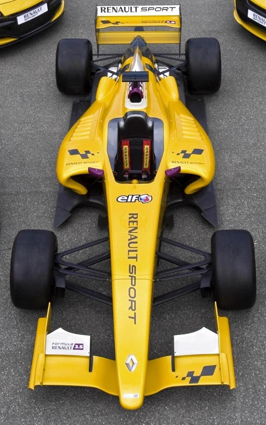 Top view on the Dallara FR 3.5
