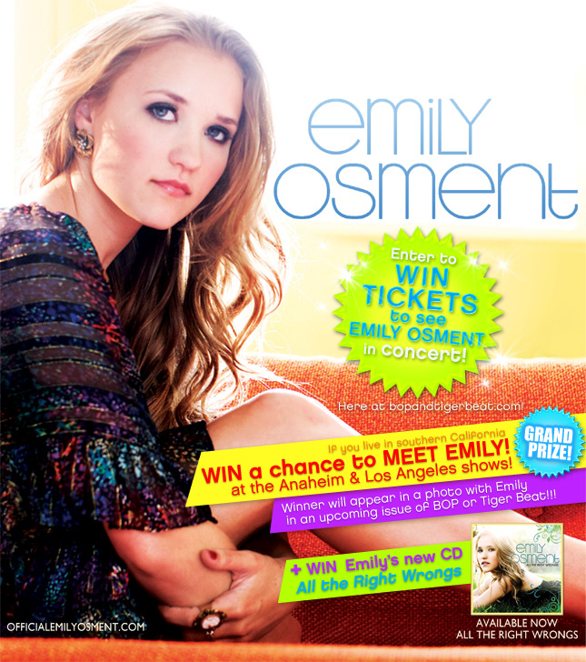 WIN IT! See EMILY OSMENT in concert!