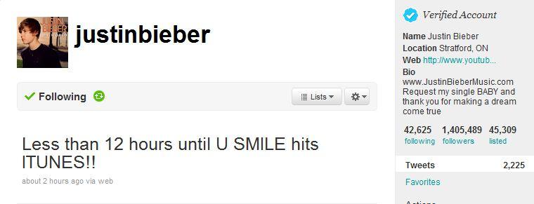 Justin Bieber U Smile on iTunes