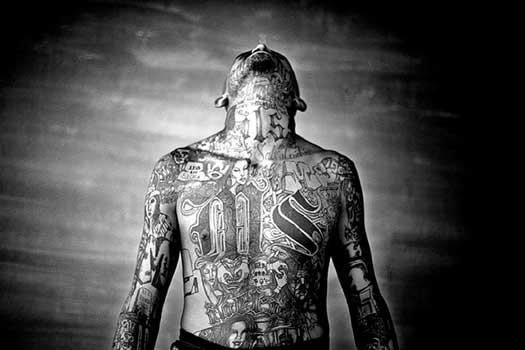 Tatouage Gang Mexicain. Les tatouage représente en